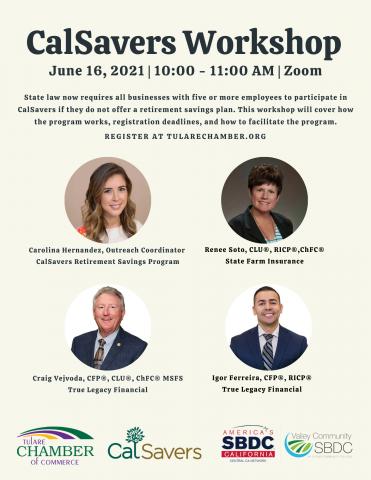 CalSavers Webinar on June 16 at 10 AM